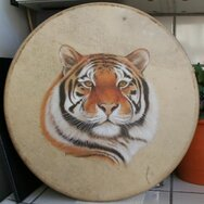 TIGER DRUM I ~~~~~SOLD~~~~~