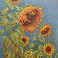 SUNFLOWERS & GOAT ~upper portion~