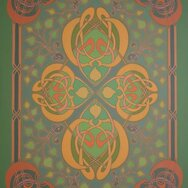 CELTIC GREEN-YELLOW ASPIN RUG