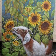 SUNFLOWERS & GOAT ~lower portion~
