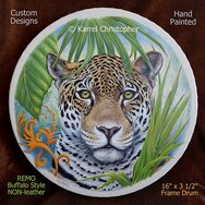 SPOTTED JAGUAR DRUM -----SOLD-----