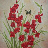 RED GLADS BUTTERFLY